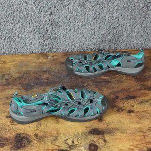 Keen Sandals Womens Whisper Waterproof Turquoise Gray